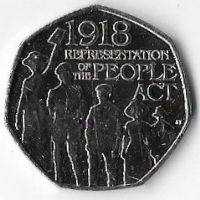 United Kingdom 2018 50p  Representation of the People Act (C)
